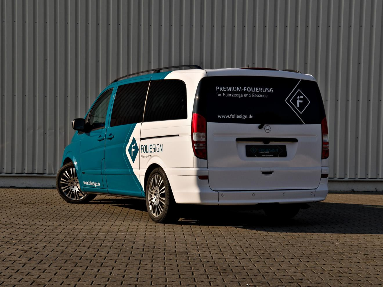 FOLIECAR Mercedes Benz Viano 2011 - Vollfolierung FOLIESIGN